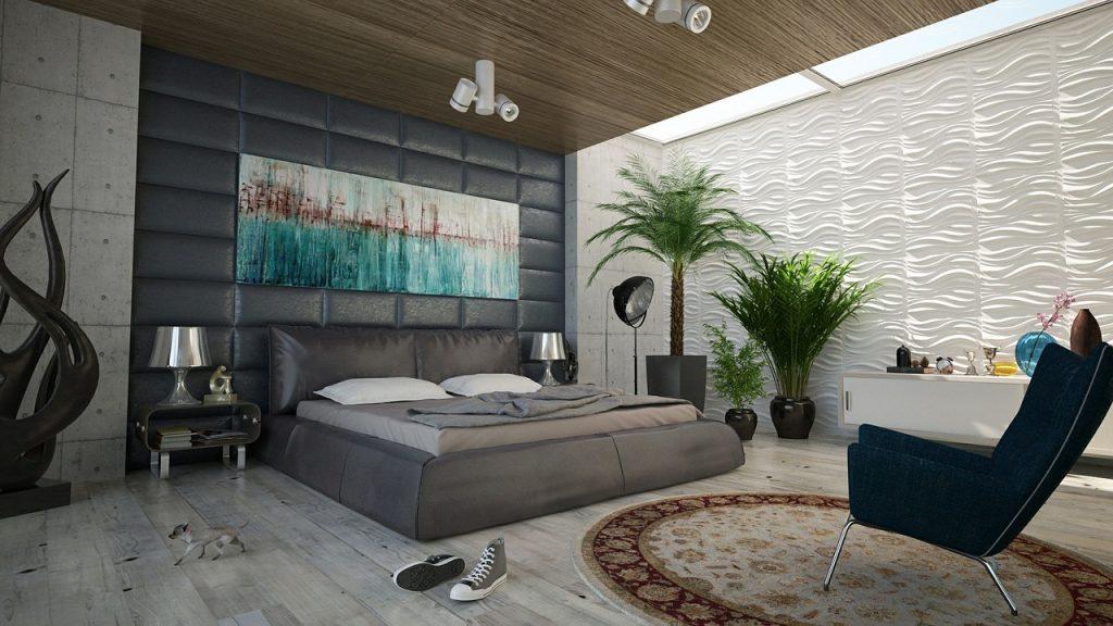 חדר שינה נקי ומסודר