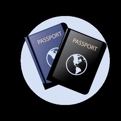 זוג דרכונים