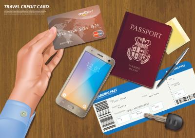 כרטיס טיסה ומשמכים