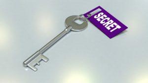 מפתח עם תווית סודי